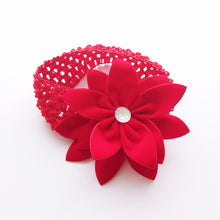 Load image into Gallery viewer, Overlapping 5-Petals Red Flowers Lace Headband - BabyLand.my