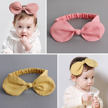 Load image into Gallery viewer, Big Linen Bow-Knot Headband (2 colours) - BabyLand.my
