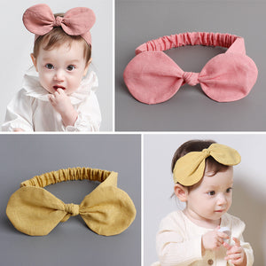 Big Linen Bow-Knot Headband (2 colours) - BabyLand.my