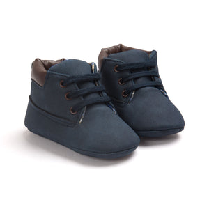 Baby Boy Pre-Walker Boots Moccasin (Navy Blue) - BabyLand.my