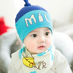 GZMM Baby's Milk Beanie Hat Set (2 Colors) - BabyLand.my
