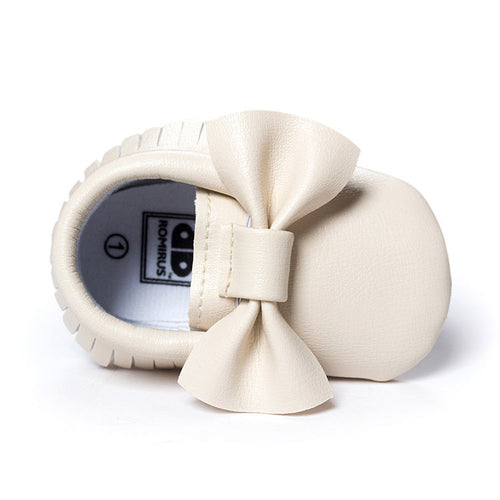 Big Bowties Pre-Walker Moccasin (Creamy White) - BabyLand.my