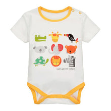 Load image into Gallery viewer, MomsCare Summer Short Bodysuit (Elephant's 9 Grids Friends) - BabyLand.my
