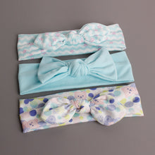 Load image into Gallery viewer, Bow-Knot 3-in-1 Headband Set (Lovely Bear Blue Series) - BabyLand.my