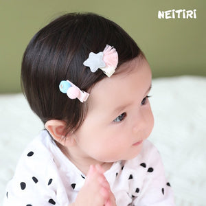 Angel Neitiri Grey Star & Blue Ball Hair Clip (One Pair) - BabyLand.my
