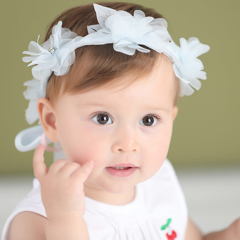Angel Neitiri Flowers Petal Ribbon Headband (3 colors) - BabyLand.my