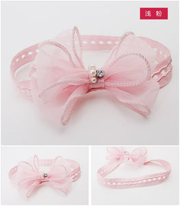 Ruffles Yarn Bow-Knot Headband (2 colors) - BabyLand.my
