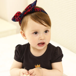British Plaid Bow-Knot Headband - BabyLand.my