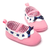 Load image into Gallery viewer, Polka Ribbon Pink Pre-Walker Shoe - BabyLand.my