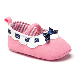 Polka Ribbon Pink Pre-Walker Shoe - BabyLand.my