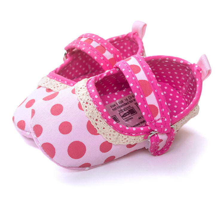 Lovely Red Polka-Dots Pre-Walker Shoe - BabyLand.my