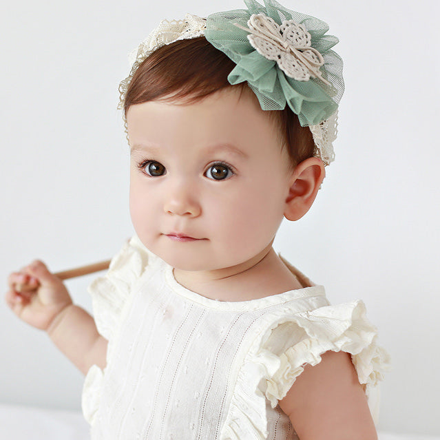 Angel Neitiri String Loves Lace And Rosette Headband - BabyLand.my