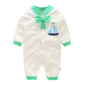 Bow-Knot Romper Series (A Sailboat) - BabyLand.my