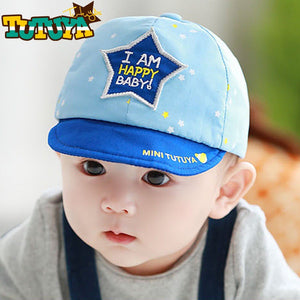 TUTUYA 'I Am Happy Baby!' Star Baby Cap (3 Colors) - BabyLand.my