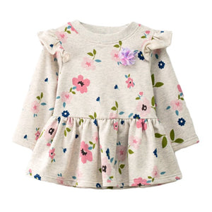 SIMYKE Colorful Floral Dress - BabyLand.my