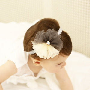 Petite Lace Chiffon Flower Headband (3colors) - BabyLand.my