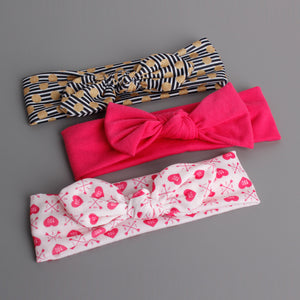 Bow-Knot 3-in-1 Headband Set (Warm-Hearted Red Series) - BabyLand.my