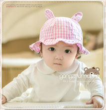 Load image into Gallery viewer, GZMM Bunny Plaid Baby Bucket Hat - BabyLand.my