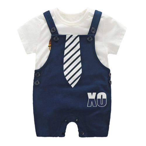 White Soldiers Strappy Romper Set - BabyLand.my