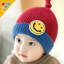 Load image into Gallery viewer, GZMM Smiley Face Crochet Baby Beanie Hat - BabyLand.my