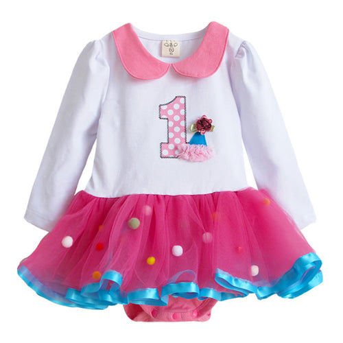 Augelute 1st Birthday Party Bodysuit Dress - BabyLand.my