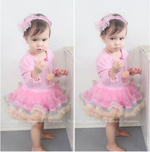 Load image into Gallery viewer, Augelute Candle Cupcake Tutu Bodysuit Dress - BabyLand.my