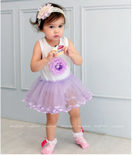Load image into Gallery viewer, Augelute Elegant Purple Flower Bodysuit Dress - BabyLand.my