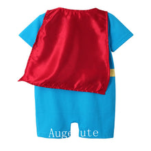 Load image into Gallery viewer, Augelute Little Superhero Romper (Sky Blue) - BabyLand.my