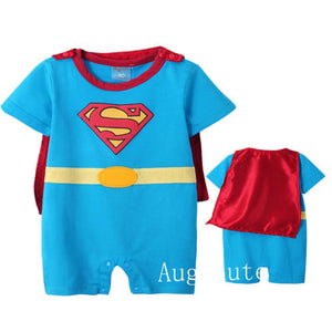 Augelute Little Superhero Romper (Sky Blue) - BabyLand.my