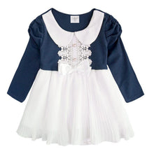 Load image into Gallery viewer, Augelute My Elegant Princess Pleated Bodysuit Dress (Blue) - BabyLand.my