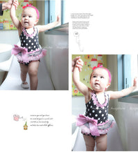 Load image into Gallery viewer, Augelute Strappy Polka Ruffle Bodysuit Dress, Black - BabyLand.my