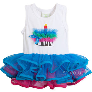 Augelute Stylish Puffy Cupcake Bodysuit Dress - BabyLand.my