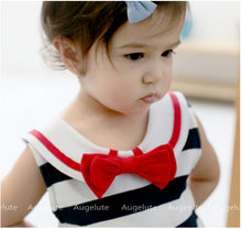 Load image into Gallery viewer, Augelute The Sweet Navy Bodysuit Dress - BabyLand.my