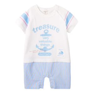 Augelute Valuable Treasure Romper (Blue) - BabyLand.my