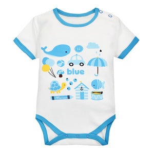 MomsCare Graphics Bodysuit (Blue Whale) - BabyLand.my