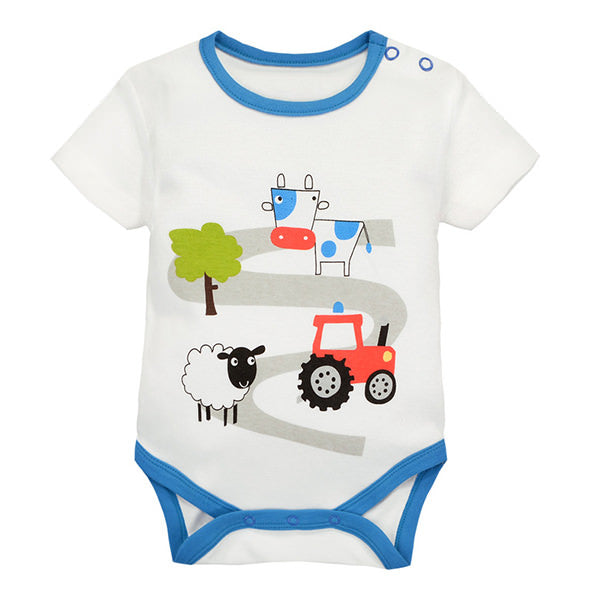 MomsCare Summer Short Bodysuit (Dairy Cow & Tractor) - BabyLand.my