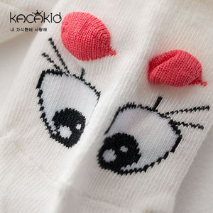 Kacakid Big Rolling Eyes & 3D Ears Boat Socks - BabyLand.my