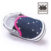 Load image into Gallery viewer, Denim Shining Stars Pre-Walker Shoe - BabyLand.my