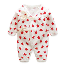 Load image into Gallery viewer, Baby Bathrobe Style Romper Series (Red Stars) - BabyLand.my