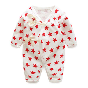 Baby Bathrobe Style Romper Series (Red Stars) - BabyLand.my