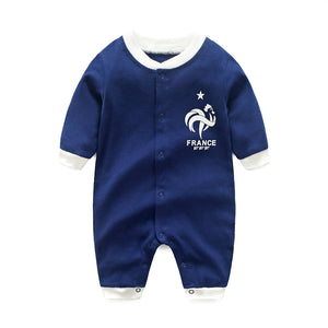 First Movements Navy Blue Soccer No.7 Romper - BabyLand.my