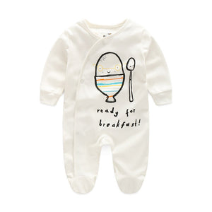 First Movements 'Ready For Breakfast!' Romper - BabyLand.my