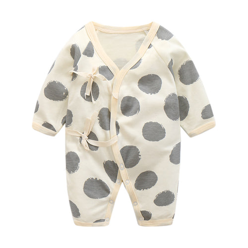 Baby Bathrobe Style Romper Series (Grey Spots) - BabyLand.my