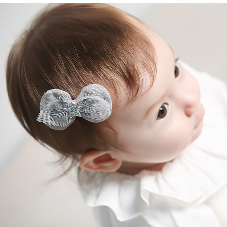 Angel Neitiri Shining Five-Pointed Star Bow-Knot Hair Clip (4 colors) - BabyLand.my