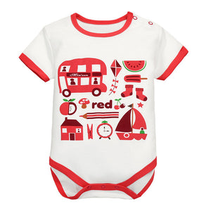 MomsCare Graphics Bodysuit (Red Double Decker Bus) - BabyLand.my
