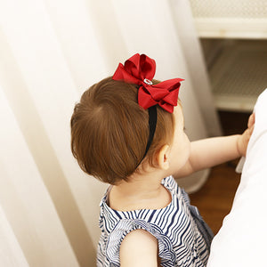 Red Ribbon Butterfly Knot Headband - BabyLand.my