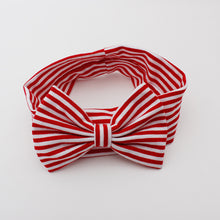 Load image into Gallery viewer, Red & White Stripes Bow-Knot Headband - BabyLand.my