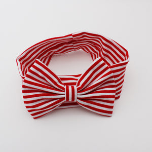 Red & White Stripes Bow-Knot Headband - BabyLand.my