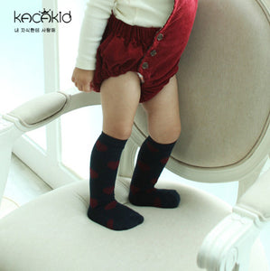 Kacakid Let's Love Tube Socks (3 Colors) - BabyLand.my