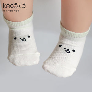Kacakid Baby's Expression Mesh Short Socks (3 Colors) - BabyLand.my